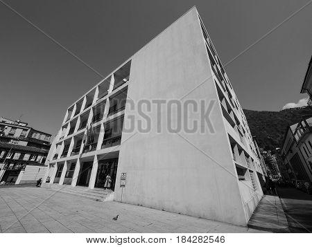 Casa Del Fascio In Como In Black And White