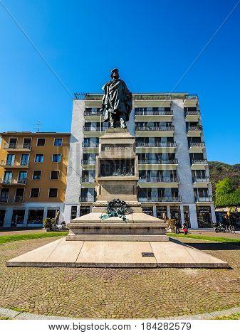 Garibaldi Monument In Como (hdr)