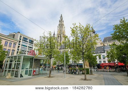 Belgium; Antwerp, Cathedral Of Our Lady, Groenplaats