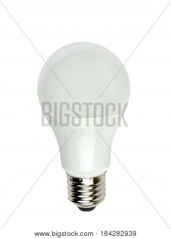 Light bulb with light-emitting diode technology isolated on white