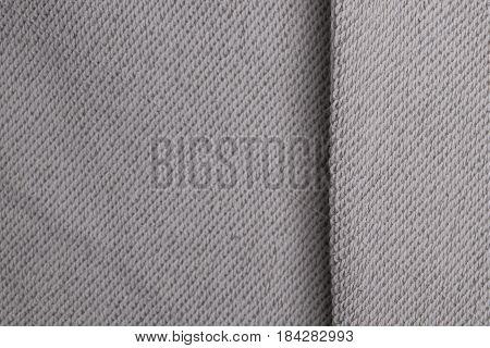 White Canvas Cotton Fabric Textile Background.