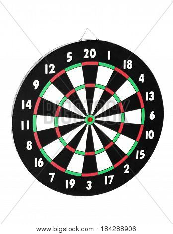 Classic Darts Board with Twenty Black and White Sectors