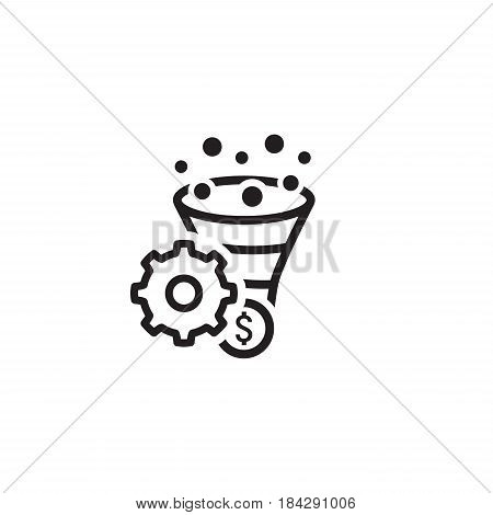 Conversion Rate Optimisation Icon. Business Concept. Isolated illustration