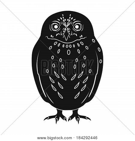 Owl.Animals single icon in black style vector symbol stock illustration .
