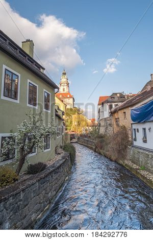 Cesky Krumlov Castle, A Museum Located In The City Cesky Krumlov In Czech Republic.