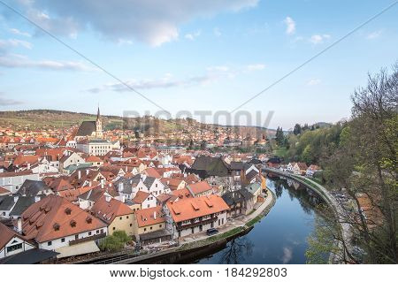 Cesky Krumlov, The City In The South Bohemia Region Of The Czech Republic.