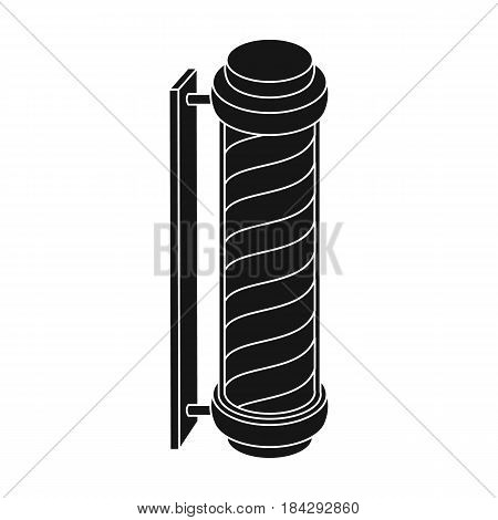 Barber logo.Barbershop single icon in black style vector symbol stock illustration .