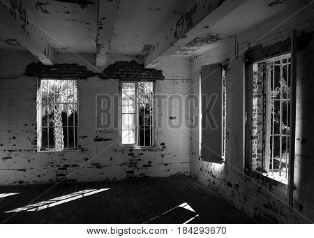 Inside looking out.  A personal Castle long abandoned.