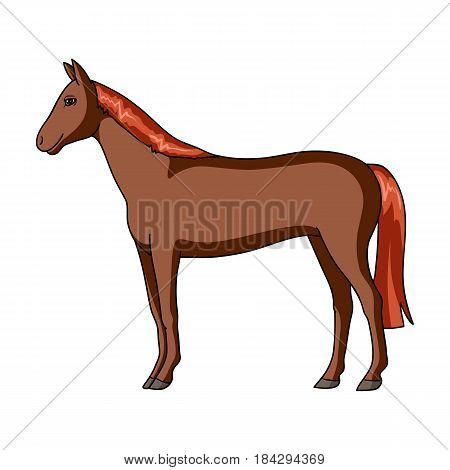 Horse.Animals single icon in cartoon style vector symbol stock illustration .