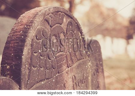 Details On Brown Tombstone