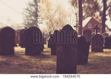 Old Blurry Tombstones