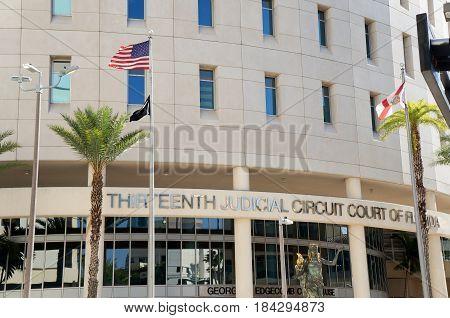 Thirteenth Judicial Circuit Court of Florida, Downtown Tampa, Florida, United States poster