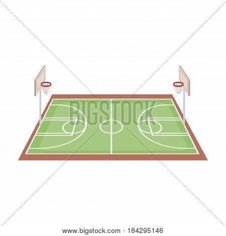 Basketball court.Basketball single icon in cartoon style vector symbol stock illustration .
