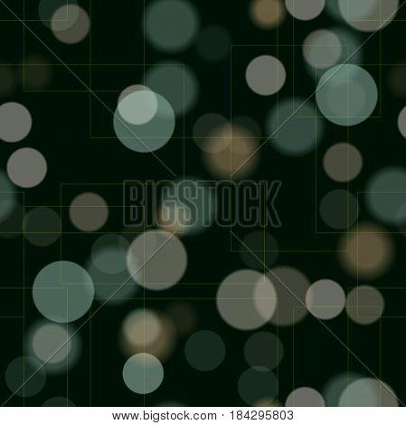 Eps10 Brightness Seamless Lights Design. Transparent Sparkles. Blurred Light. Calming Dark Backgroun