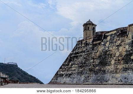San Felipe Castle in cartagena Colombia in a morning day