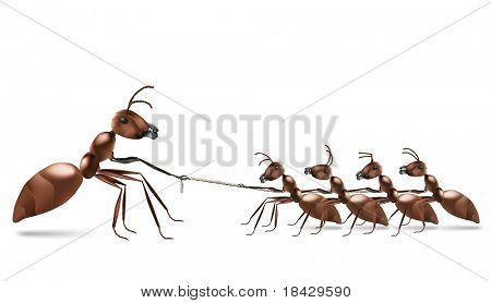 ant rope pulling unbalanced business or sport rivalry business rivalry against bigger market leader team work tug of war market position struggle for life business competition strongest  power numbers