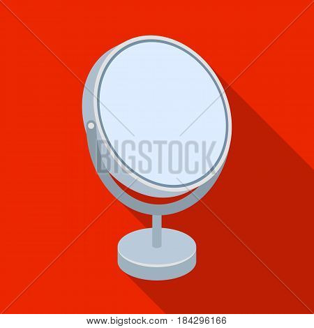 Desk mirror.Barbershop single icon in flat style vector symbol stock illustration .
