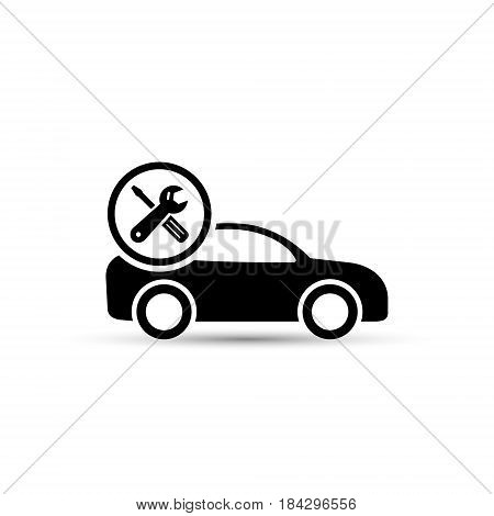 Car repair vector icon isolated on white background.