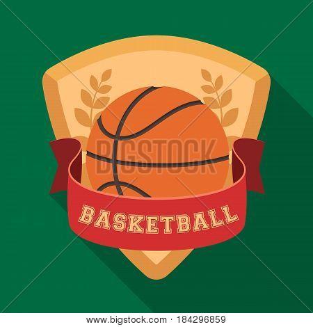 Basketball emblem.Basketball single icon in flat style vector symbol stock illustration .
