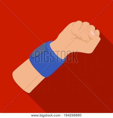 Arm with bandage.Basketball single icon in flat style vector symbol stock illustration .