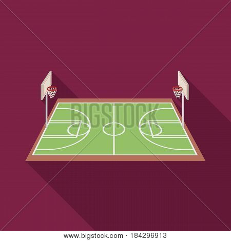 Basketball court.Basketball single icon in flat style vector symbol stock illustration .