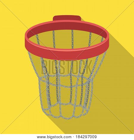 Basketball hoop.Basketball single icon in flat style vector symbol stock illustration .