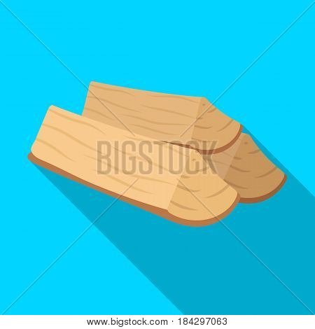 Chopped firewood.BBQ single icon in flat style vector symbol stock illustration .
