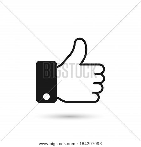 Thumb Up icon isolated on white background. Vector symbol.