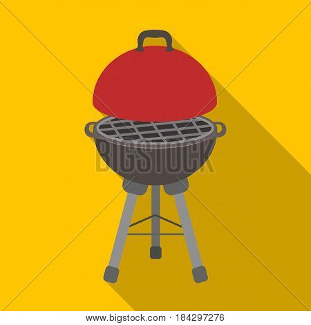 Grill for barbecue.BBQ single icon in flat style vector symbol stock illustration .