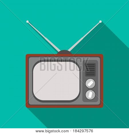 Old TV.Old age single icon in flat style vector symbol stock illustration .