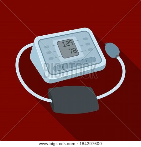 Medical tonometer.Old age single icon in flat style vector symbol stock illustration .