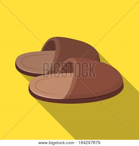 Slippers.Old age single icon in flat style vector symbol stock illustration .