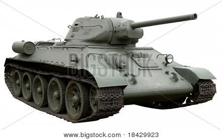 Soviet tank model t34. Second world war.