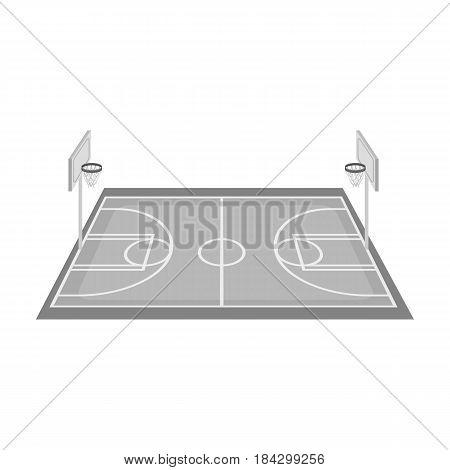 Basketball court.Basketball single icon in monochrome style vector symbol stock illustration .