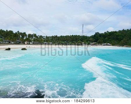 Beautiful sandy beach on a tropical island