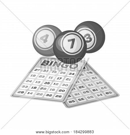 Lottery.Old age single icon in monochrome style vector symbol stock illustration .