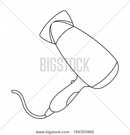 Hair dryer.Barbershop single icon in outline style vector symbol stock illustration .