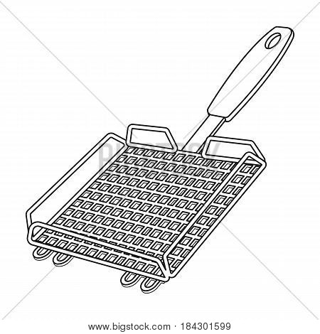 Grill grill.BBQ single icon in outline style vector symbol stock illustration .