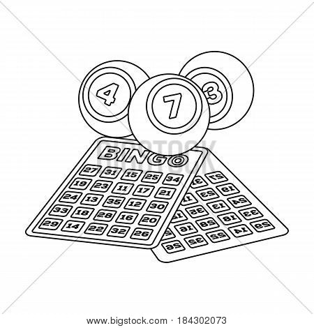 Lottery.Old age single icon in outline style vector symbol stock illustration .