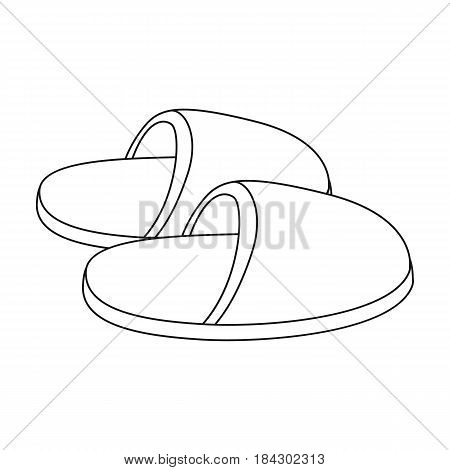 Slippers.Old age single icon in outline style vector symbol stock illustration .