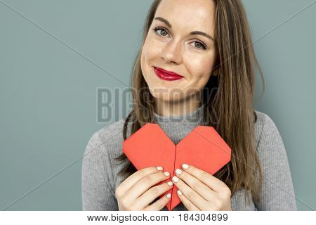 Woman Smiling Happiness Heart Love Romance