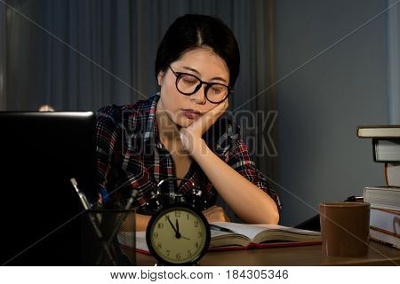 Frustrated Student Studying Poorly
