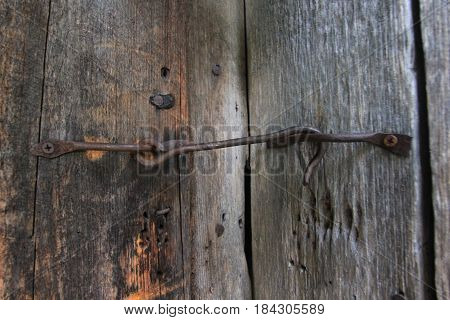A door latch on a barn in Sleeping Bear Dunes National Lakeshore, Michigan