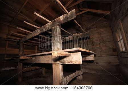 A wooden chicken roost in Sleeping Bear National Lakeshore,  MI