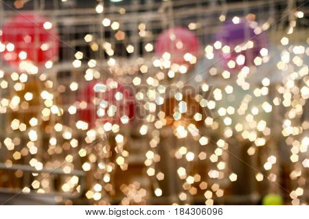 light string bokeh festive decoration lamp night celebration blur celebration