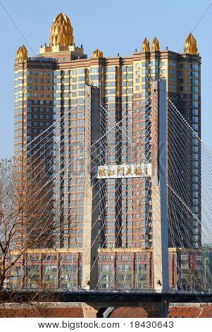 North China city Jilin. Cityscape.