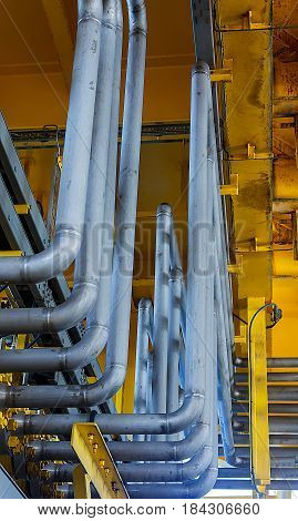 Industrial tube for transfer flow rate Oil and Gas to produce