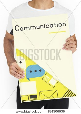 Communication Connected Online Network Concept