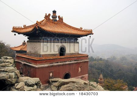 Ancient buddhist stupa in Summer Palace in Beijing.