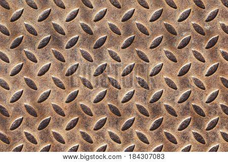 Rusty metal texture grated floor